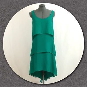 Ann Taylor Emerald Green Tiered All Occasion Dress